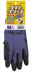Light Grip Glove Attached Tag Purple