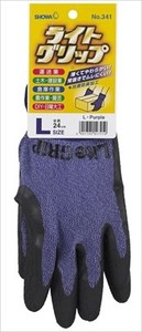 Light Grip Glove Size L Purple