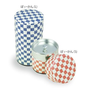[Storage can] Komon Japanese Pattern Aomi Sakura 3 Colors Tea Canister