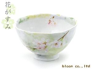 Japanese Rice Bowl Green Sakura Sakura 1Pc Mino Ware