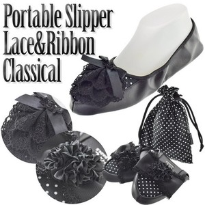 Lace Brooch Portable Slipper Room Shoe Ladies Ribbon Lace