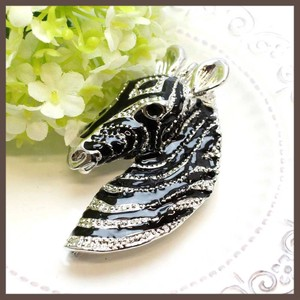 Zebra Face Brooch