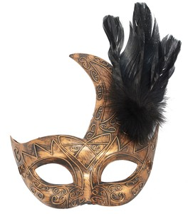 Antique Feather Emboss Mask