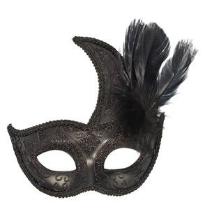 Black Feather Emboss Mask