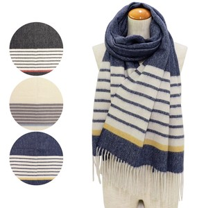Big A/W Stole Wool Border Stole Washing