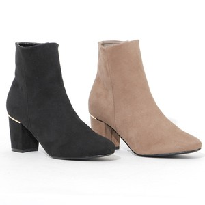 Boots Fastener Attached Bootie Heel