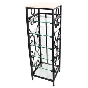 Slipper Rack Marble Side Table Iron Frame Plant Stand Decoration