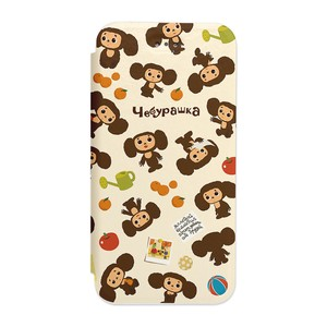 Custom Cover iPhone SE Flip Cheburashka Repeating Pattern