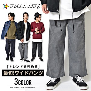 2016 A/W Stripe wide pants Men's Bottom Mode Semi-formal