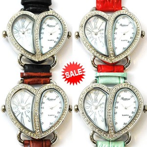 Double Face Watch Belt Genuine Leather Fashion Watch Ladies Wrist Watch