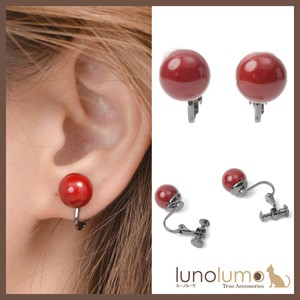 CLASSICAL RED Dark Red Earring