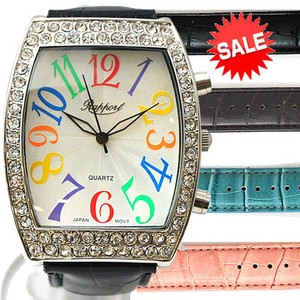 Colorful Dial Belt Fashion Watch Ladies Wrist Watch