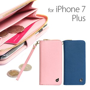 iPhone Plus Plus Case Zipper Wallet Attached Diary Case