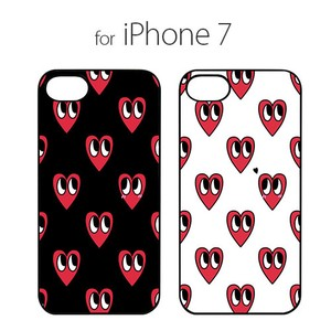 iPhone SE Case Black Case Red Heart