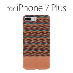 iPhone Plus Case Natural Wood Checkered