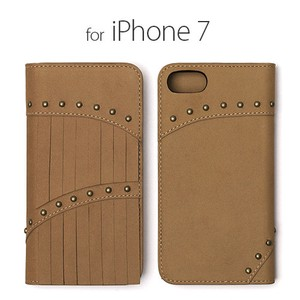 iPhone SE Case Genuine Leather Notebook Type Fringe Diary