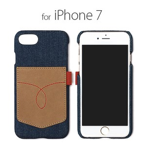 iPhone SE Case Denim Vintage Pocket Card Storage