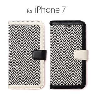 iPhone SE Case Notebook Type Herringbone Diary