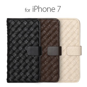 iPhone SE Case Notebook Type Mesh Diary