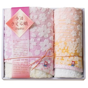 IMABARI TOWEL Gift Sakura Bathing Towel Face Towel