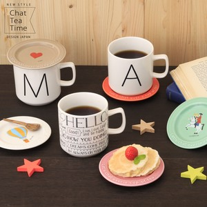 Chat Tea Time Mug Initial Alphabet