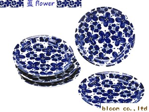 Flower Plate Set Mino Ware