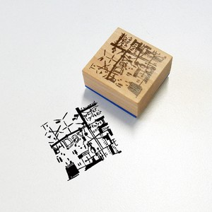 Round Top Syoukei Stationary Chamil Garden Stamp