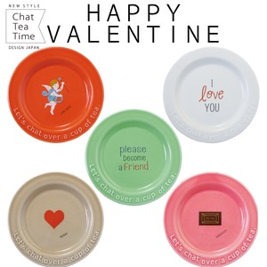 Chat Tea Time Happy Valentine' Plate