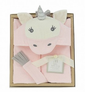 Baby Bathrobe Gift Set Unicorn 24 Months