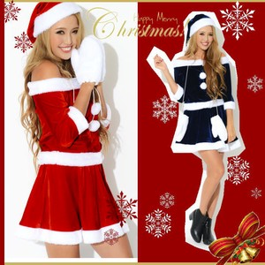 Hats & Cap Mitten Attached Santa Dress Costume Santa Cosplay