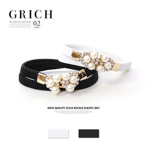 S/S A/W All Accessory Belt Brilliant Pearl Bijou Shearing Belt