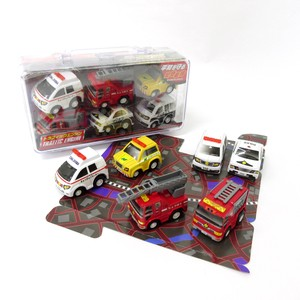 Model Car Bag Emergency Vehicle Set Fire Truck Patrol Car