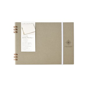 White Ground Notebook CARTOGRAPHY Book