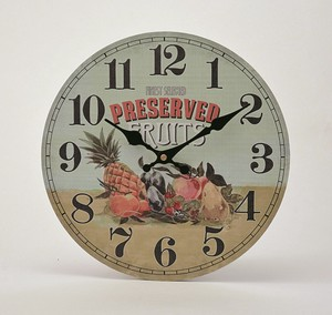 Old Look Wall Clock Mix Fruit