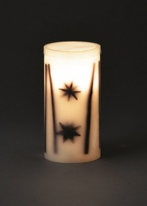 Flicker LED Candle Cinnamon Star