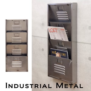 Industrial Metal Wall Letter Rack