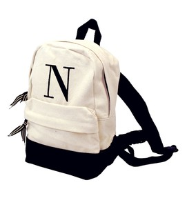 Mud Pie Mud Pie Initial Canvas Kids Backpack