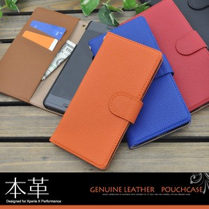 Genuine Leather Xperia X Performance Genuine Leather Leather Stand Case Pouch