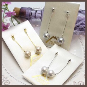 Spain Luca Pearl Drop Pierced Earring Majolica Pearl