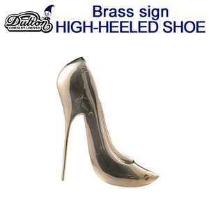 BRASS SIGN HIGH-HEELED SHOE