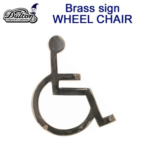 BRASS SIGN WHEEL CHAIR
