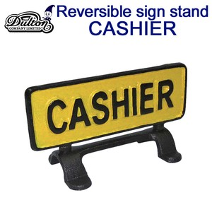 REVERSIBLE SIGN STAND CASHIER