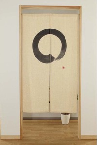 """Japanese Noren Curtain"" Hemp Material Zen circle"