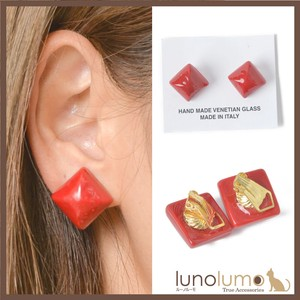 Square Design Color Venetian Glass Earring Italy