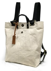 Swing Backpack Canvas Spain Tan Leather