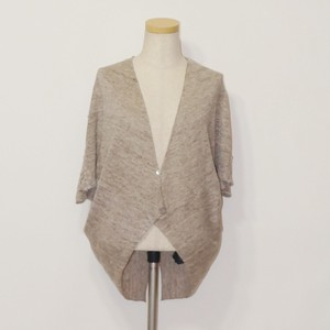 Lace Attached Linen Knitted Bolero