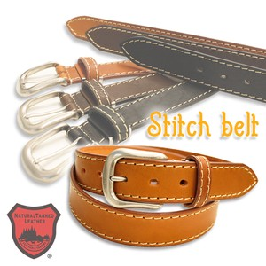 Tochigi Leather Belt Cow Leather Adjustment