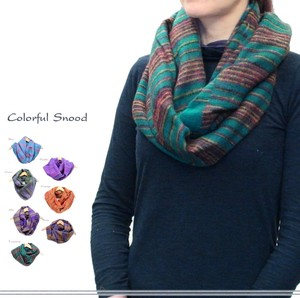 Mix Color Stripe Fluffy Snood