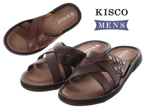 Genuine Leather S/S Goat Decoration Men's Sandal