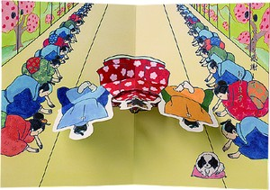 Humor Japanese Style Pop Card Bow